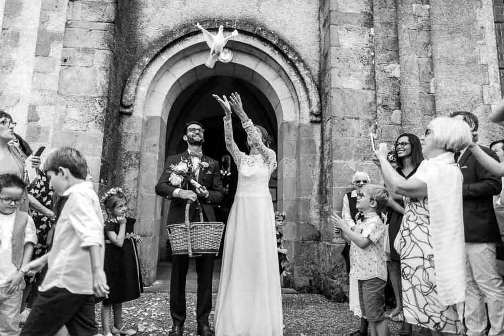 avoir de belles photos de mariage en sortie de mairie