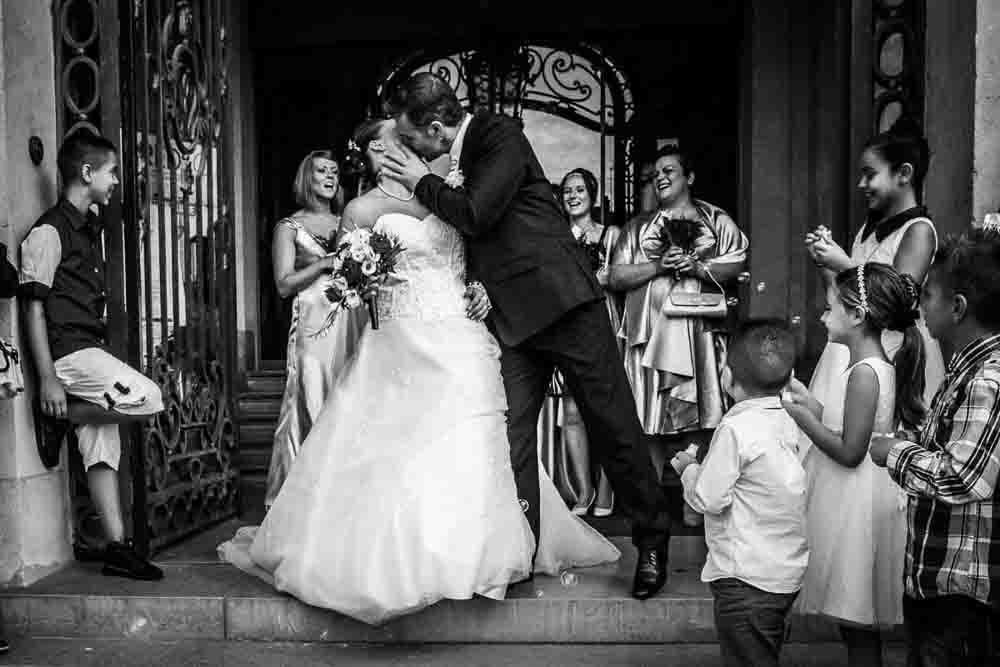 Mariage sortie de mairie de Melun